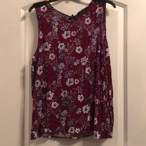Forever 21 Floral Sleeveless Top, 2X, like new
